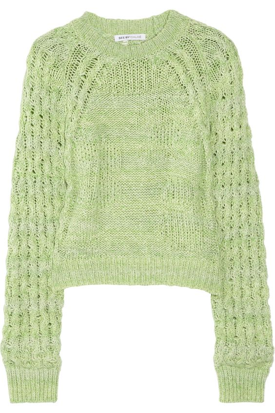 See by Chloé ~ Knitted cotton sweater. £220.