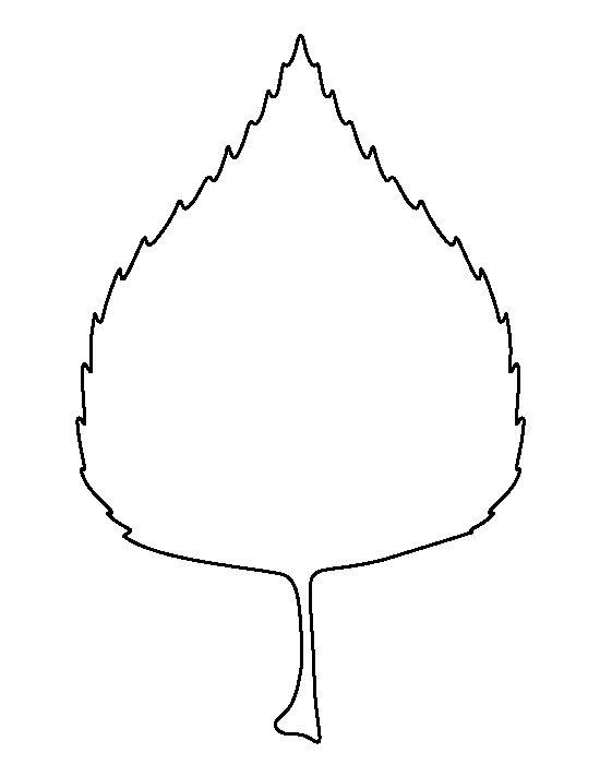 Birch Leaf Outline Ima...
