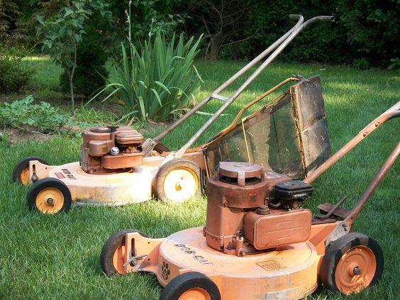 Vintage Mtd Lawn Tractors : Vintage bob cat commercial push mowers lawn mower forums