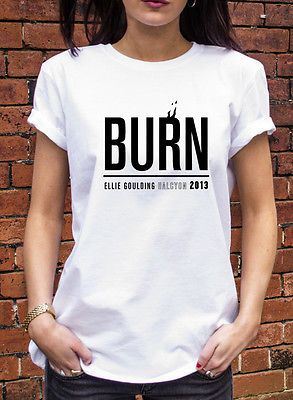 Ellie Goulding Burn T-shirt Mens Womens Gift T shirt Pop Halcyon Album Geek R095