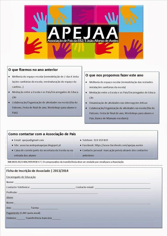 APEJAA - Associação de Pais da EB2/3 João Afonso de Aveiro: Associados