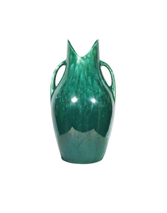 Vintage Royal Haeger Green Agate Double by VivisVintageFancy, $50.00