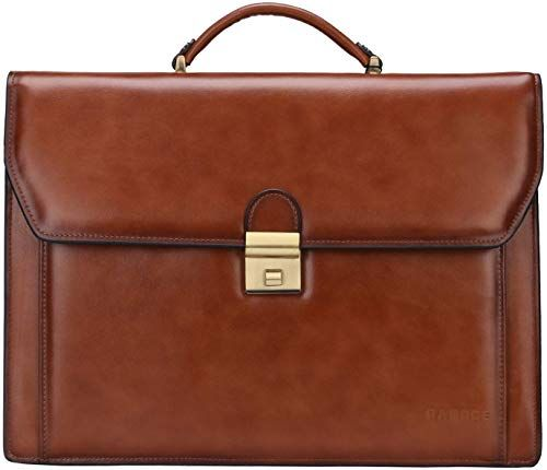 New Men/'s Real Leather Briefcase Handbag Tote Attache Cases Shoulder Laptop Bag