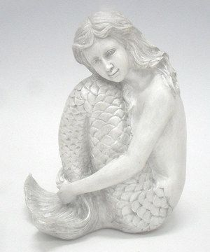 Another great find on #zulily! White Sitting Mermaid Figurine by Fancy That Gift & Décor #zulilyfinds