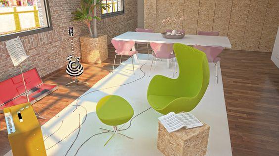 Proyecto de decoración de un loft en Sevilla. ( Infografías )