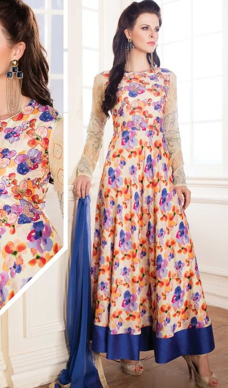Silk Printed Suits Dress Yy