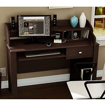 Computer compact desk for offices everywhere. Beautiful color and design PLUS a charging station for all devices.