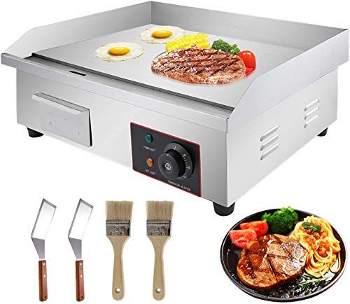 The Perfect Vbenlem 22 Electric Countertop Griddle Grill 110v 3000w Non Stick Commercial Restaurant Grill Stainle In 2020 Flat Top Griddle Flat Top Grill Griddle Grill