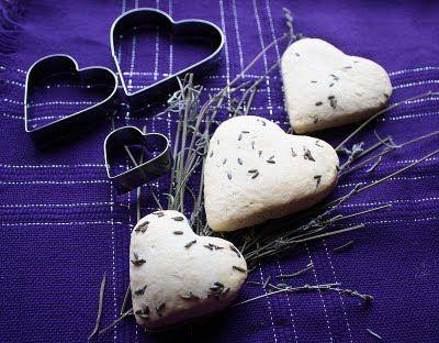 Lavender Heart Scones