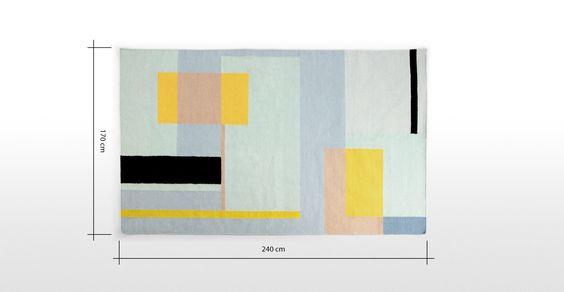 Teva Flachgewebter Teppich 170 x 240 cm ► Entdecke moderne Designmöbel jetzt bei MADE.