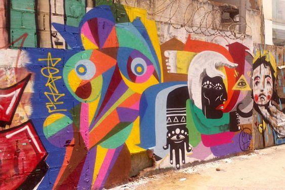 Há muita história por trás das cores do artista brasileiro Peacetu que mora na Noruega. Suas obras são cheias de geometrias, formas ousadas e simbolismos.