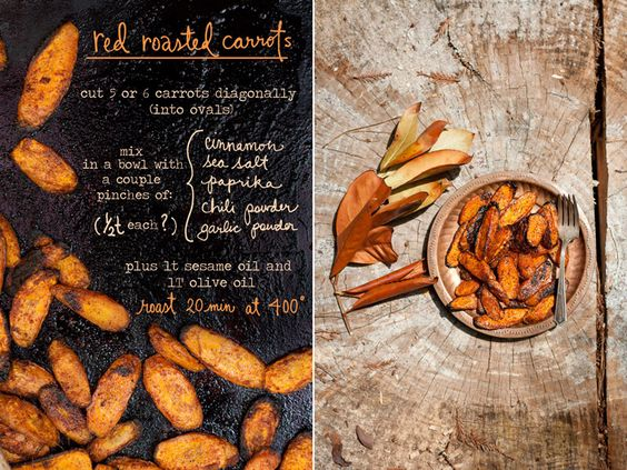 red roasted carrots // Erin Gleeson