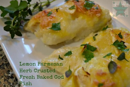 lemon parmesan herb crusted fresh baked cod fish very