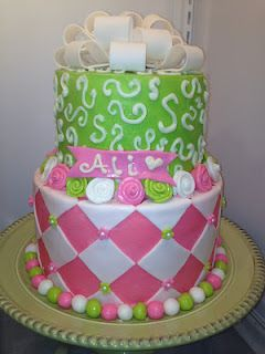 Planning my step-daughter's sweet 16.  Love this cake idea.