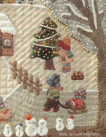 Merry Christmas to all! Here is a gorgeous quilt from our photo archive that reminds of the joys of childhood and Christmas.   Four Seasons...