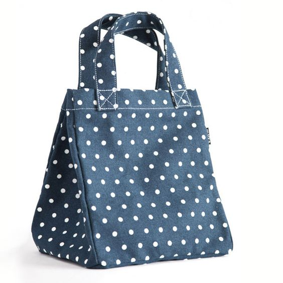 Dots Navy Lunch Tote