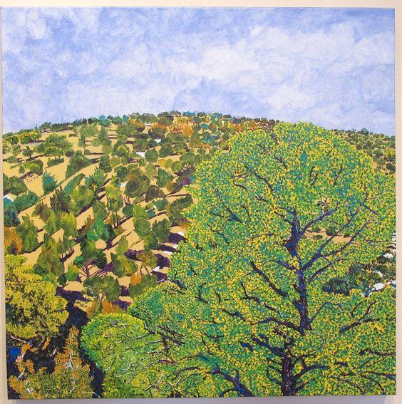 Hillside From Studio | See more Landscape Paintings at https://www.1stdibs.com/art/paintings/landscape-paintings on 1stdibs