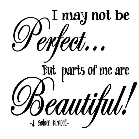 Pink Polka Dot Creations:  J. Golden Kimball thought:  I may not be perfect...: