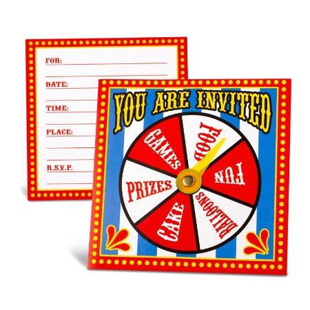 Amazon.com: Carnival Spinner Invitations Party Accessory: Toys & Games