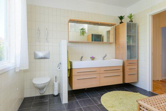 Stort badrum på Söndrumsvägen 44