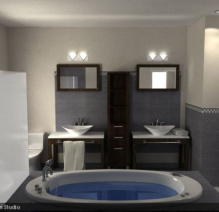 Love The Idea Of Two Separate Vanities Vs 1 Vanity With 2 Two Vanity  Bathroom Designs
