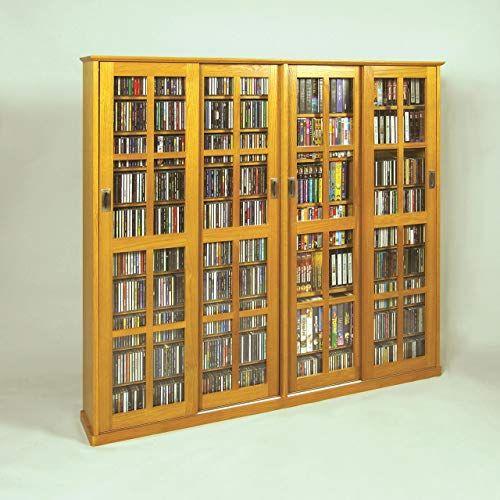 New Leslie Dame Mission Style Multimedia Storage Cabinet Sliding