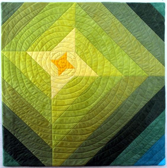 """""""Rising Star"""" by Jo Brickwell. First place, Friendship Star challenge, Project QUILTING Focus Through the Prism Quilts (2016). Posted at Persimon Dreams."""