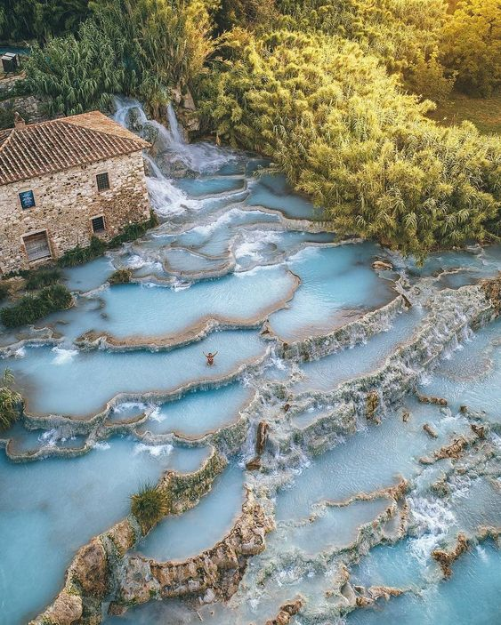 Spas of Saturnia, Italy, Resort, Travel, Tourist Attraction, Sightseeing Spots, Superb View
