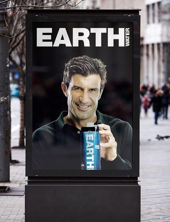 Grafisch ontwerp van Sparkling Orange voor Earth Water. Advertentie • Billboard • Art