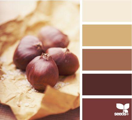 chestnut tones: Seeds Color, Living Room, Interiorpaintcolors Fall, Color Palette, Colour Palette