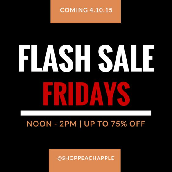 Coupons will be only shared viaour Twitter account, but may be viewable through otherlinked accounts. Flash Sale Fridaycodeswillbe made available, and onlyvalidfor a predetermined time, betweennoon and 2 p.m. each Friday. Followand save today!
