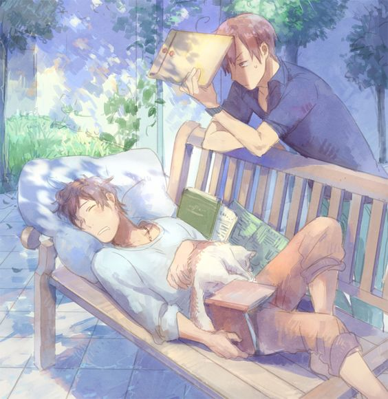 sleeping Spain and Romano