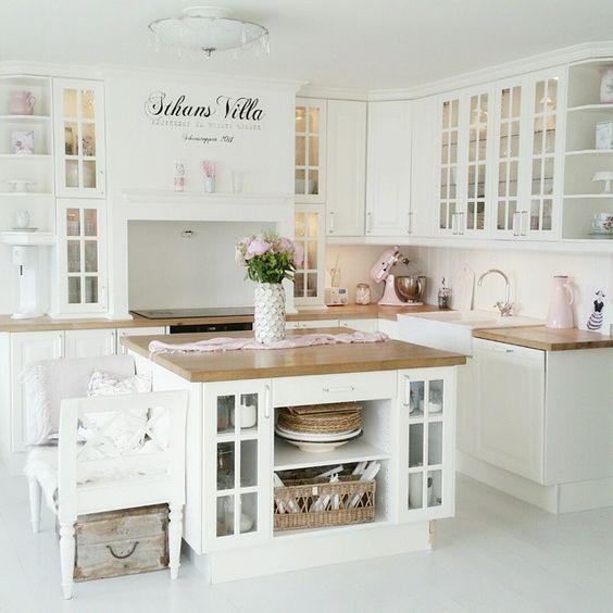 ... küchen küche rosa küche ideen einrichtung landhaus küche