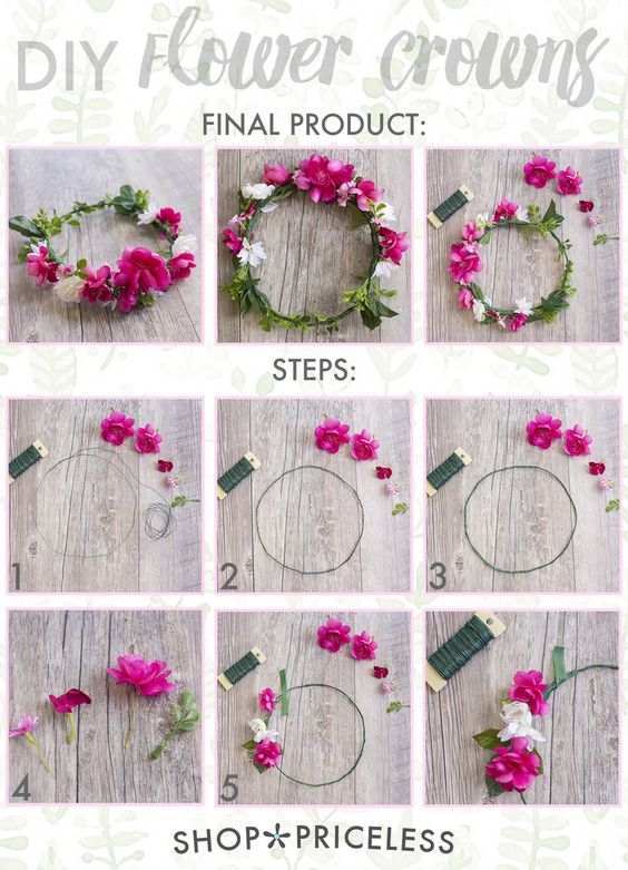 EASY DIY FLOWER CROWNS                                                                                                                                                     More