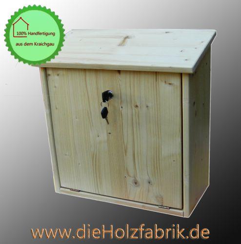Holzbriefkasten Modell Natur XL