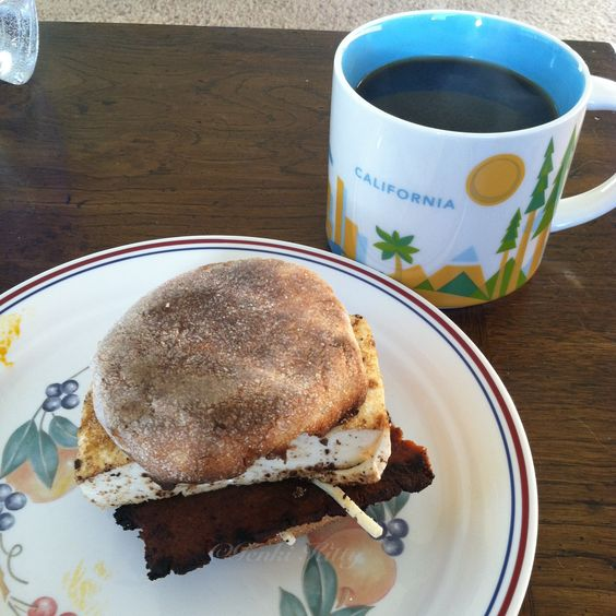 Vegan Breakfast Sandwich with Sweet Earth Bacon