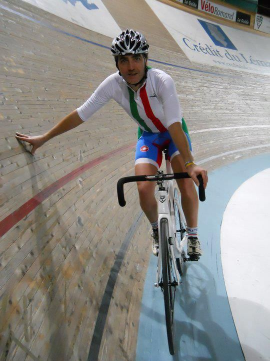 Track Cycling - is on an incline