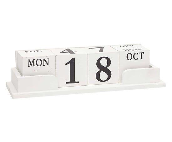Westwing - Kalender Aline, wit/zwart, L 31 cm ---------------- 29€