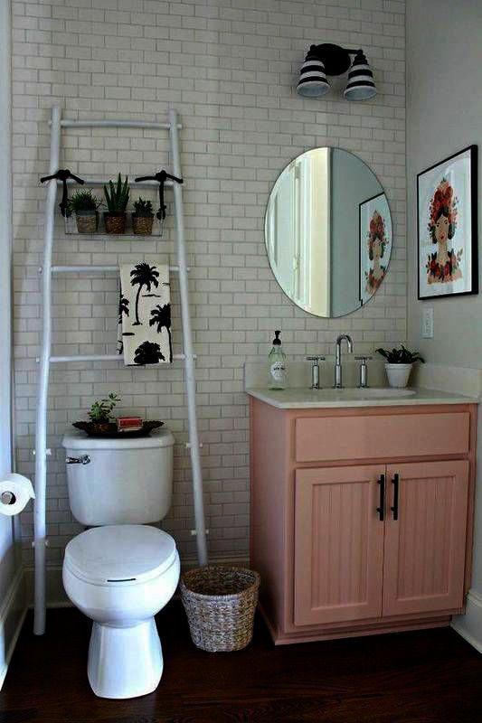 Creative Scents Quilted Mirror Bathroom Accessories Set 4 Piece