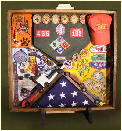 Cub Scout/Boy Scout shadow box @Aileen Vickery Roberts