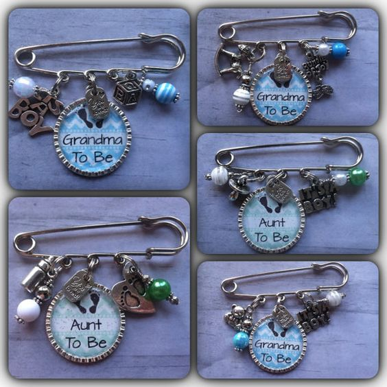 to be pin aunt to be gift new baby key chain baby shower pin baby
