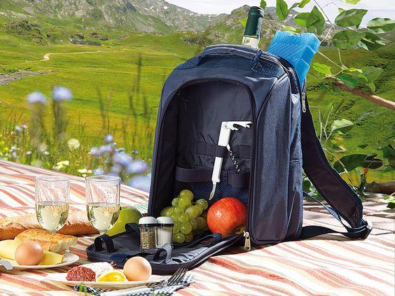 Thermo-Picknick-Rucksack mit Kühlfach  Die Komplett-Ausstattung für #romantische #Picknicks zu zweit