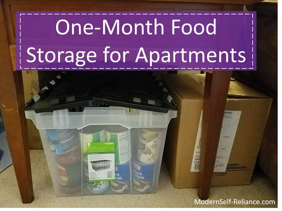 food storage solutions for preparing for emergencies in a small apartment modern self. Black Bedroom Furniture Sets. Home Design Ideas