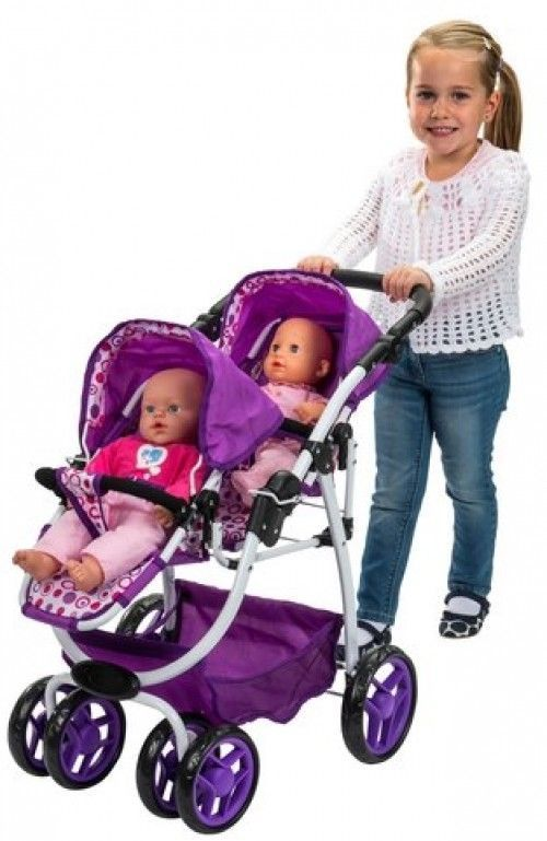 Reversible so you can change the direction Dolls Twin Reverse Pram