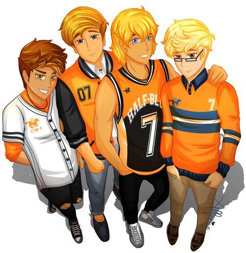 Apollo's boys: Michael Yew, Lee Fletcher, Will Solace, Austin
