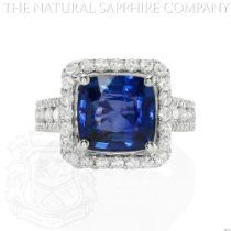 5.02ct Natural Untreated Blue Sapphire in 18k White Gold Ring with 1.03cts of Diamonds 5.02ct Natural Untreated Blue Sapphire in 18k White Gold Ring with 1.03cts of Diamonds   Price: $49,500.00  http://astore.amazon.com/greabengagementring-20/detail/B00GOUY6IC
