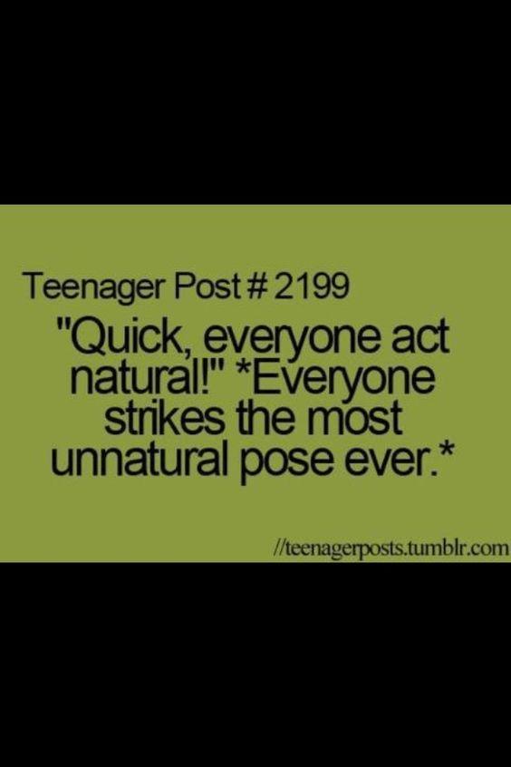 Teenager post. Unnatural pose
