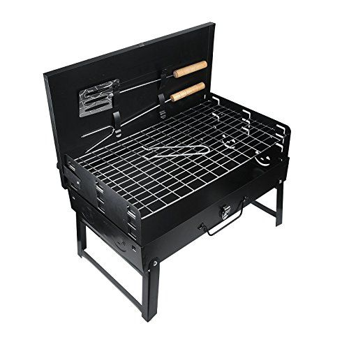 Vinteky Bbq Portable Charcoal Grill Stainless Steel Barbecue Grill Foldable Table Coal Garden Travel Campin Portable Bbq Grill Portable Charcoal Grill Grilling