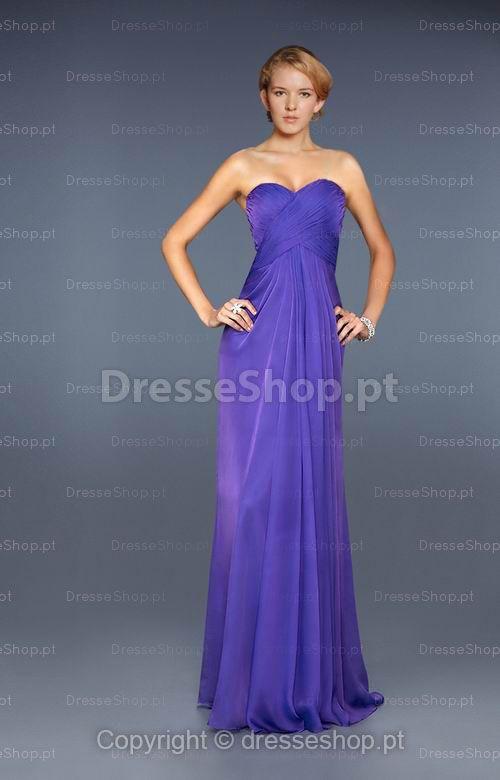Julia-Vestido de festa em tecido de seda