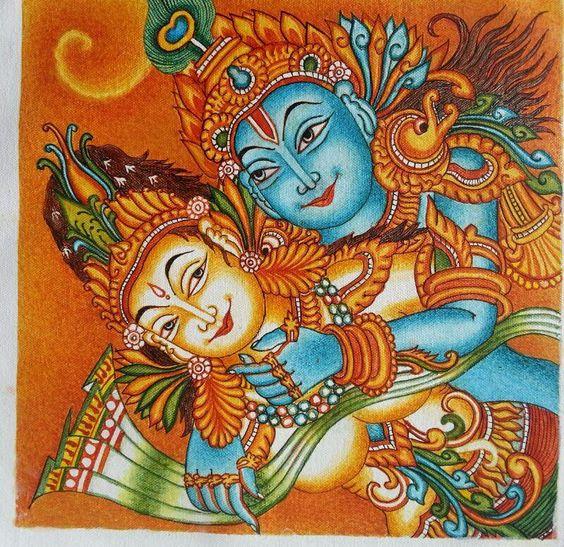 Radhe krishna creative painting for sale by nirupama for Creative mural art